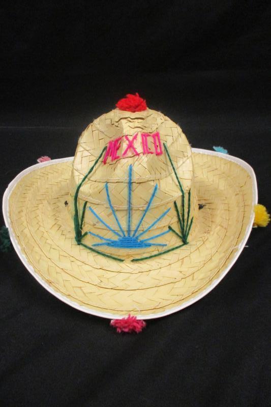 Sombrero Straw Hat Kid's OS Mexico Souvenir Cowboy Hat