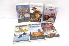 Lot of 6 Disney WB Fox VHS Movies Western Comedy Goldrush Alaska Snowy River