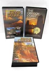 Lot of 3 Travel Themed VHS Movies Holiday Bryce & Grand Canyon Oregon Coast