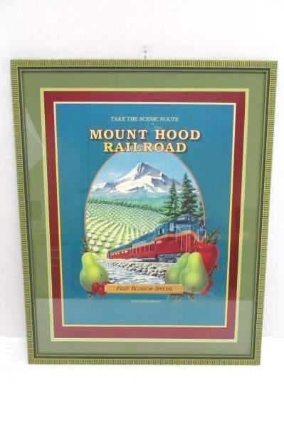 Framed Mount Hood Railroad Fruit Blossom Special Poster Print Hood River Oregon