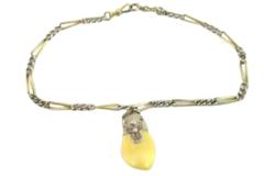 Vintage Elk Head And Elk Tooth Pocket Watch FOB Chain Rhinestone Antlers