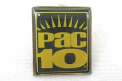 Pacific 10 Conference Pac-10 Pin Green Yellow Square Lapel Hat