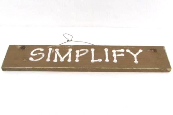 Lot of 3 Wood Ceramic Wall Hanging Plaque Signs Simplify Garden Hay Sun Shines