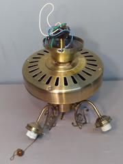 Vtg Broan Ceiling Fan Replacement Base No Paddles No Globes Gold Tone Decorative