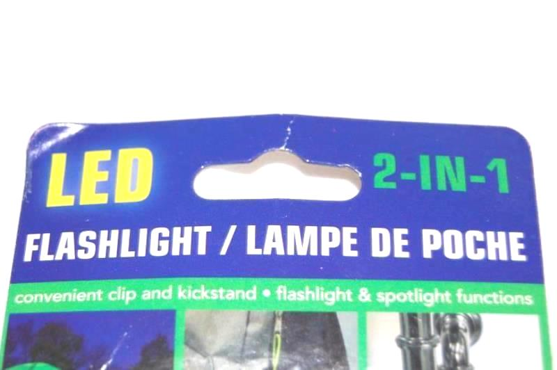 Flashlight 2 in 1 Brand new Convenient Clip and Kickstand Flashlight & Spotlight