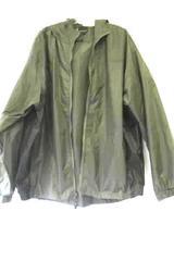 Apparel Men's Jacket Coat Green Polyester Long Sleeves Zipper w/ Hood Size XL