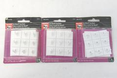 Lot of 3 Packages Bulldog Hardware Stic Mount Cup Hooks 27 Total