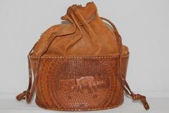 J. Castro M Leather Embossed Bucket Bag Purse For Repair Costa Rica