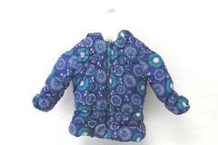 London Fog Puffer Jacket Girls Size S/4 Fleece Lined Purple Fuzz Lined Hood