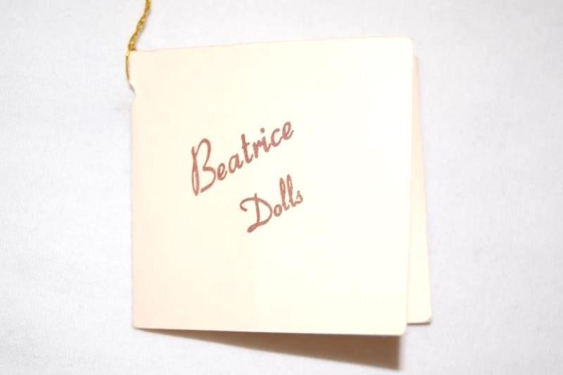 Beatrice Fine Porcelain Doll 18in Prairie Girl Blonde Black Purple Dress