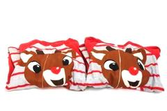 Lot of Two Rudolph The Red Nosed Reindeer Bodysuit Baby Toddlers 4T And 3T