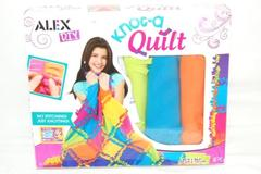 2009 Alex Child's Knot A Quilt DIY Craft Kit 42x54in 48 Piece Opened Box