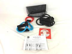 Bally Total Fitness Resistance Band Kit DVD 3 Different Size Bands Instructions