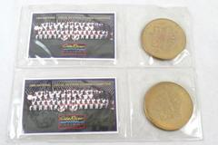 Lot 2 Arizona Diamondbacks 1999 Champions World Series Gila River Casinos Tokens