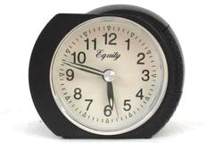Equity Battery Operated Alarm Clock Plastic Case Black Color Small