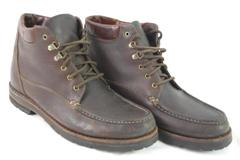 Cole Haan Country Leather Boots Men's Size 8M Brown Lace Up Made in Brazil
