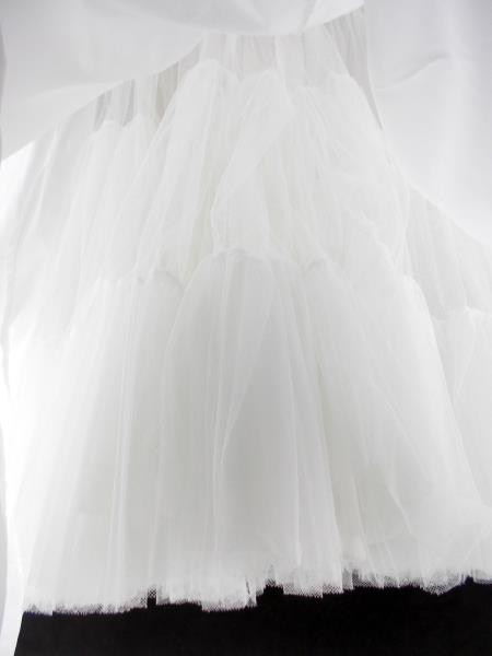 Under Cover Full Length White Tulle Wedding Costume Control Top Petticoat Sz 11