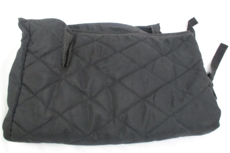 4Knines Car Seat Cover Dog Durable Material Black Rear Fit Bench Seat