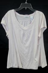 Womens Top by Liz & Co. Pink Short Sleeve Size XL