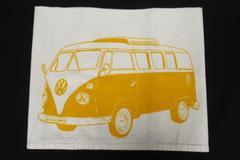 Volkswagen Tea Towel Oh Little Rabbit Lien White Yellow Kitchen Linen
