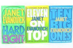 Lot of 3 Stephanie Plum Janet Evanovich Hard Eight Ten Big Ones Eleven on Top