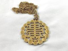 Vintage ALVA Museum Replicas Elaborate Asian Symbol Necklace