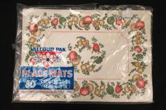 52 Vintage Valcour Vegetable Imprinted Disposable Paper Placemats