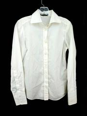 Dolce & Gabbana Ivory Dress Shirt Solid Pure Cotton Poplin Women's Size 42 Slim