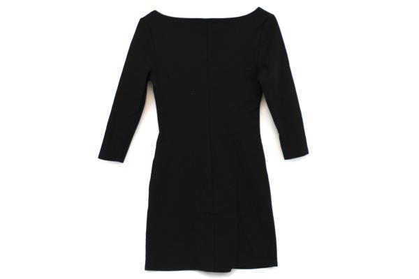 Olsenboye Black 3/4 Sleeve Fitted Shift Dress Size S Cotton Steampunk