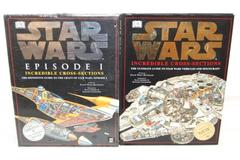 Lot of 2 Star Wars Incredible Cross Sections Books HC David West Reynolds