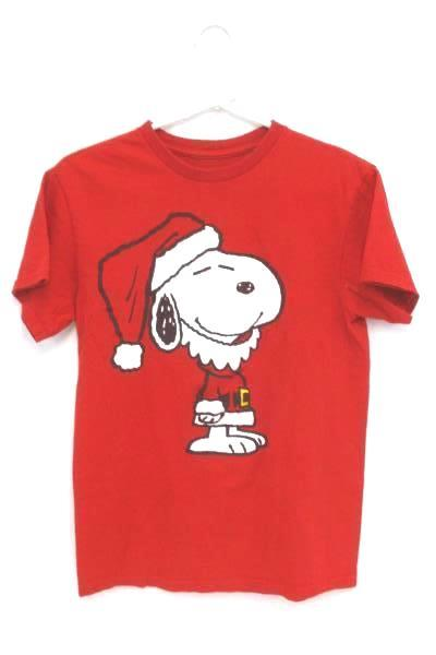 Peanuts Women's Small T-Shirt Snoopy As Santa Bonus Travel Cup Make Me Merry Lot