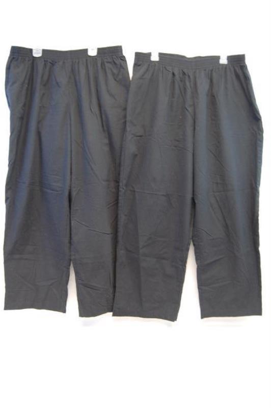 Lot of 2 Butter Soft Scrub Pants Women's Size 2XP Black Pockets Elastic Waist