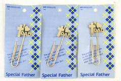 3 Vintage Mastercraft Jewelry Page Markers Bookmarks Religious 1987 Dad Father