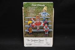 Vtg The Gingham Goose 1980 Gwen Andrews Uncut Doll Sewing Pattern Four Friends