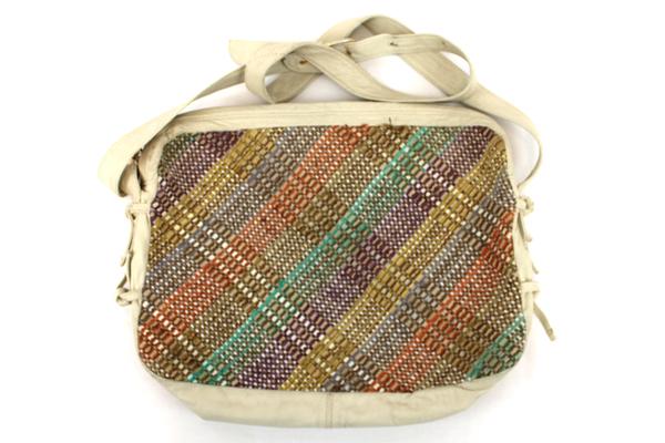 Vintage MEYERS Woven Leather Cross Body Messenger Purse Handbag