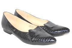 Bellini Faux Leather Point Toe Flats Women's Size 8.5 Reptile Pattern