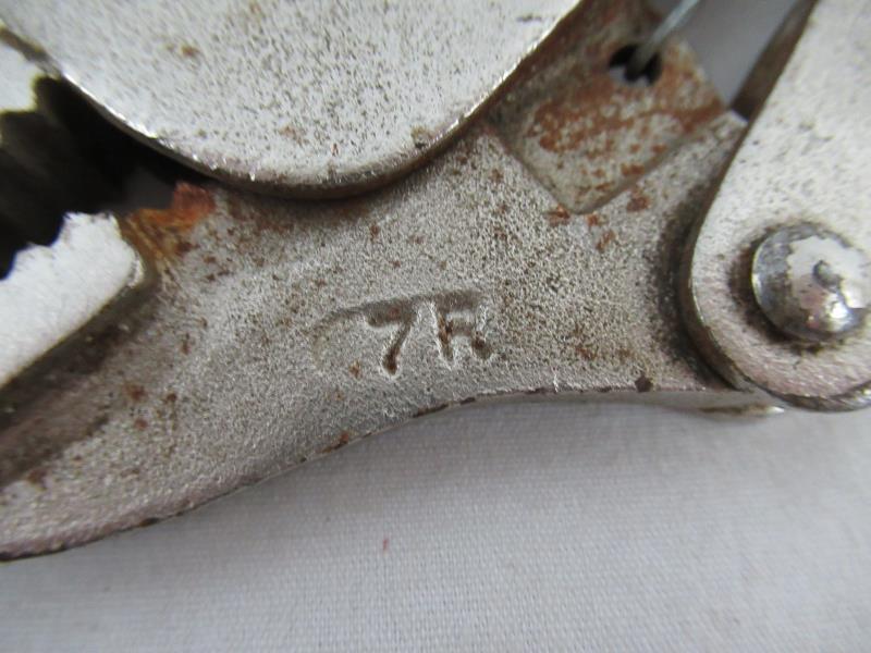 Lot 3 Vintage Petersen Vice Grip 7R & 10R Straight Jaw Locking Pliers