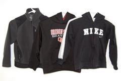 Lot of 3 Sweatshirts Fleece Jacket Boys Size 7 OSU Oregon State Nike REI Black