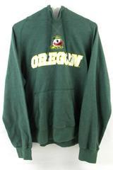Champion Elite Oregon Ducks Hoodie Sweatshirt Women's Size XL Green Pocket