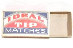 Antique Ideal Tip Matches Cardboard Match Box Pacific Match Company Empty