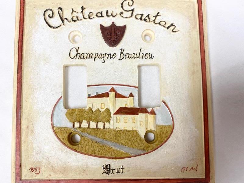 Lot of 2  Switch Plate Cover French France Countryside Champagne Chateau Gaston