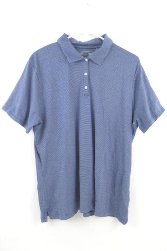 Cutter & Buck Polo Golf Shirt CB DryTec Blue Stripe Short Sleeve Men's Size XXL
