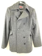 L.E.I. Peacoat Jacket Dark Gray Wool Double Breasted Lined Winter Women's Size M