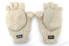 Huntworth Thinsulate Convertible Mittens Fingerless Gloves Beige