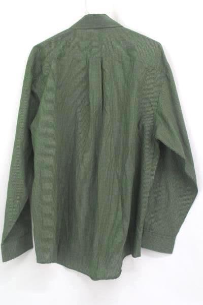 Van Heusen No Iron Men's Green Plaid Button Up Long Sleeve Shirt Size 16/16.5