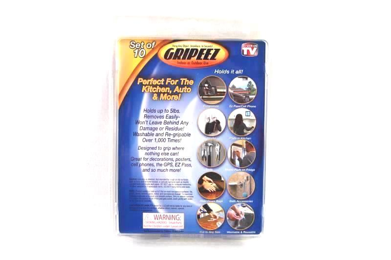 Gripeez Removable Double Sided Super Grip Pads Indoor Outdoor Holds 5lb 10 Pack