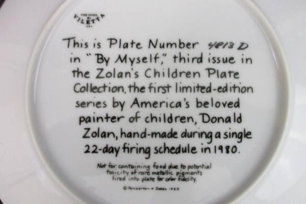Viletta China Zolan's Children By Donald Zolan By Myself Plate