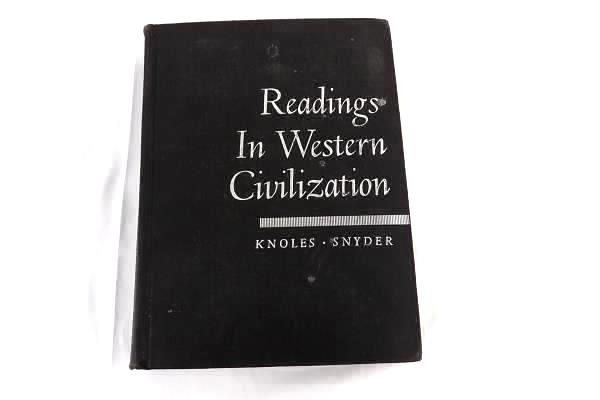 Readings in Western Civilization by Knoles, Snyder 1951 Book, Hardcover