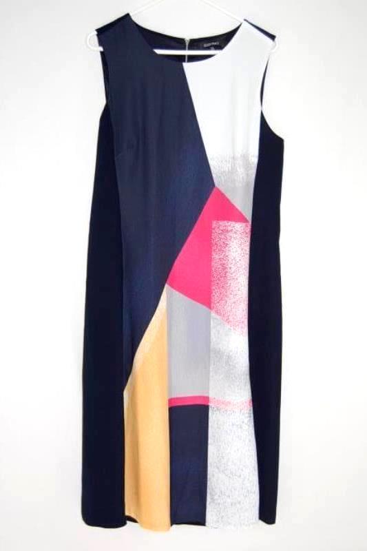 Ellen Tracy Sleeveless Belted Dress Women's Size 12 Round Neckline Zip Closure