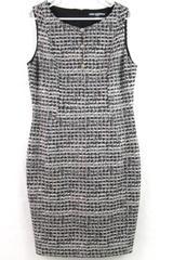 Karl Lagerfeld Paris Dress Faux Tweed Pattern Women's Size 12 Lined